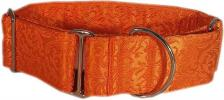 Fancy Collar: MB299-1.5 Orange on Orange Brocade - Click For Enlargement