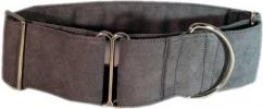 Fancy Collar: MB291-2 Gray Micro Suede - Click For Enlargement