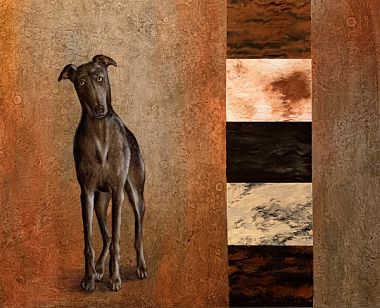 Love Comes in All Colors greyhound artwork
